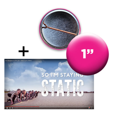 Moving Image & Text Lyric Video + Custom Button Bundle