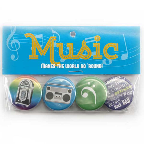 Music Makes the World Go 'Round (Bright) Button Pack