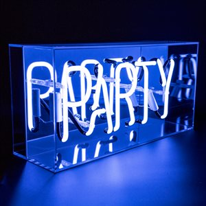 Neon Table Top Acrylic Box Party Light Sign