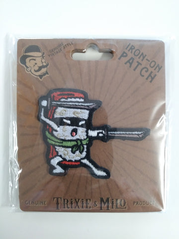 Trixie & Milo, Sushi Ninja Embroidered Patch