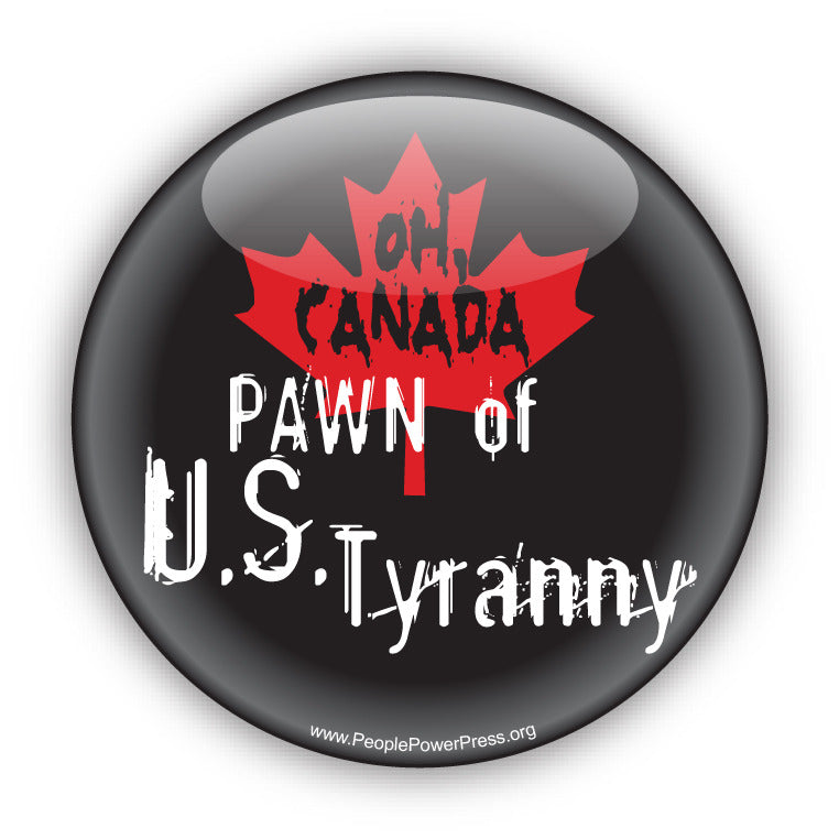 Oh Canada Custom Button Graphic Design