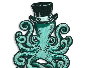 Cool Octopus Embroidered Patch
