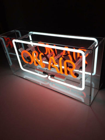 Acrylic Box Neon Sign On Air