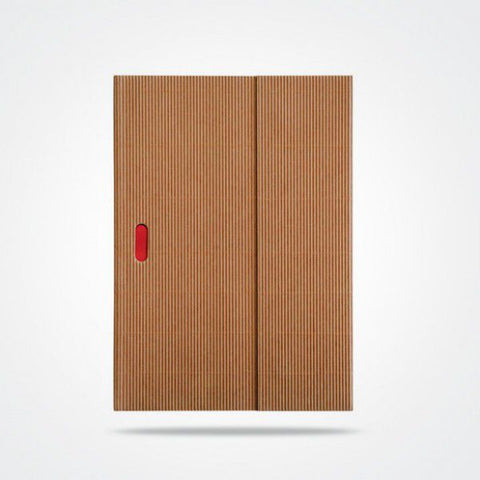 Natural-textured cover containing personal journal with unlined paper