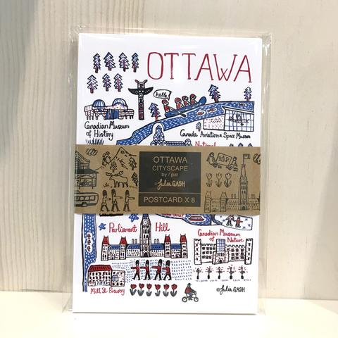 Ottawa Pack of 8 cityscape postcards