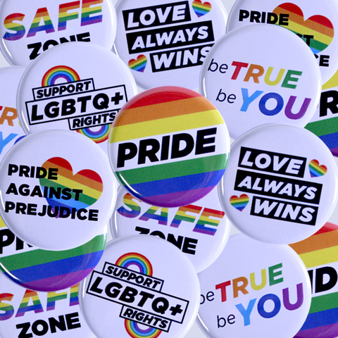 Available to Order Mixed Bag of Pride and Gay Rights Buttons