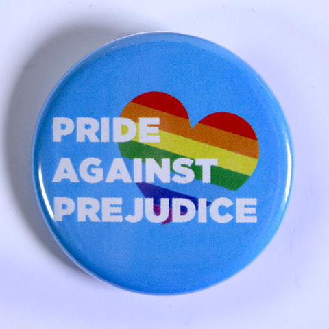 Pride Against Prejudice - Pins for LGBTQ+ Events and Campaigns