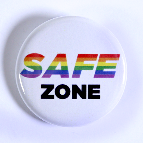 LGBTQ+ Rights Button Collection Safe Zone Pin