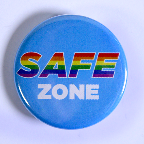 Rainbow Safe Zone Buttons to support LGBTQ+ Rights