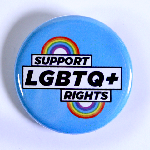 Blue Campaign Badge - Support LGBTQ+ Rights
