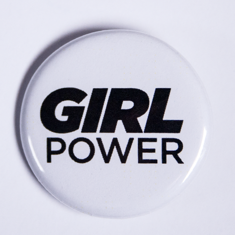 Small Girl Power Pinback Button