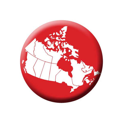 Map of Canada Button