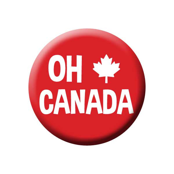 Oh Canada Canada Day Button