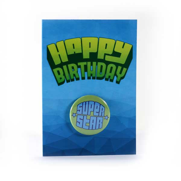 Happy Birthday Super Star Birthday Card