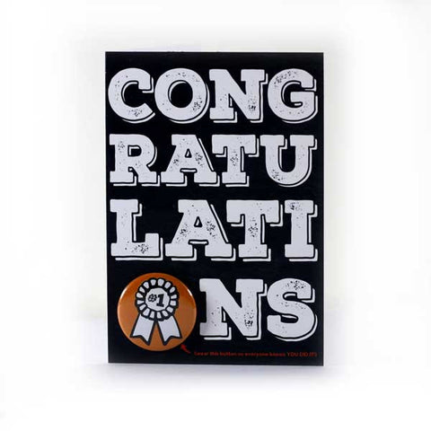 Congratulations, You Did It! - Button Greeting Card