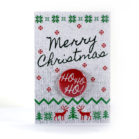 Merry Christmas Sweater - Button Greeting Card