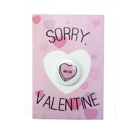 "Mean Valentine Card ""Whatever"""