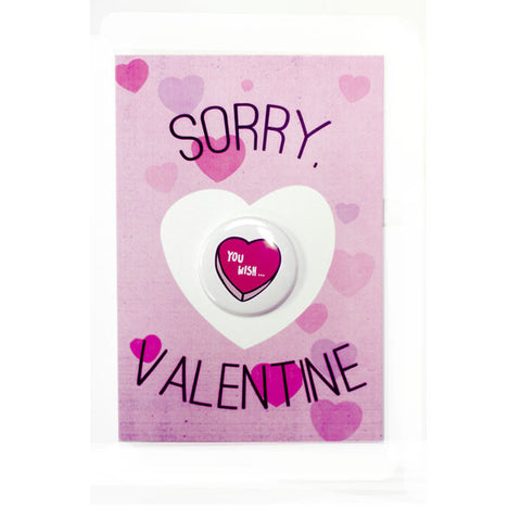 Sorry Valentine - Button Greeting Card