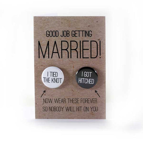 You Tied the Knot! - Button Greeting Card