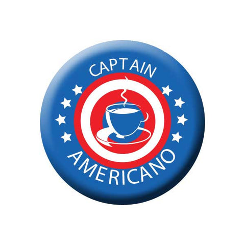 Captain Americano, Red White Blue, Coffee Cup, Coffee Buttons Collection from People Power Press