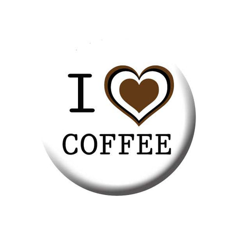 I Heart Coffee, Brown & White, I Love Coffee, Coffee Buttons Collection from People Power Press