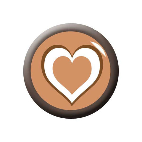 Coffee Heart, Brown, Coffee Buttons Collection from People Power Press