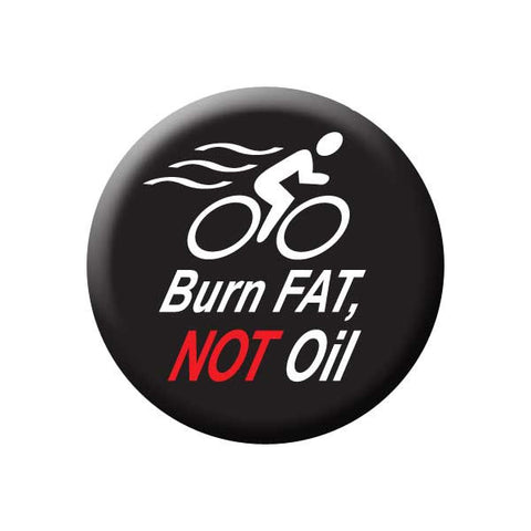 Butn Fat Not Oil, Black, Bicycle Buttons Collection from People Power Press