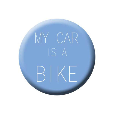 My Car Is A Bike, Blue, Bicycle Buttons Collection from People Power Press