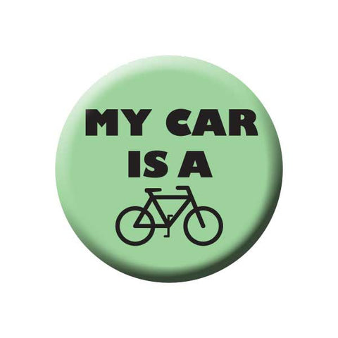 My Car Is A Bicycle, Mint Green, Bicycle Buttons Collection from People Power Press