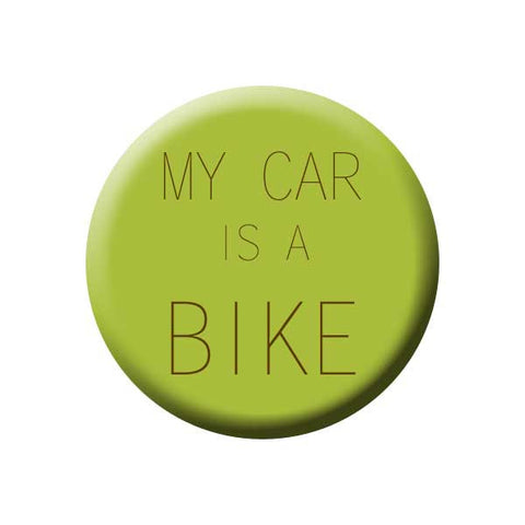 My Car Is A Bike, Olive Green, Bicycle Buttons Collection from People Power Press