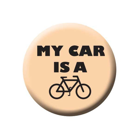 My Car Is A Bicycle, Peach, Bicycle Buttons Collection from People Power Press