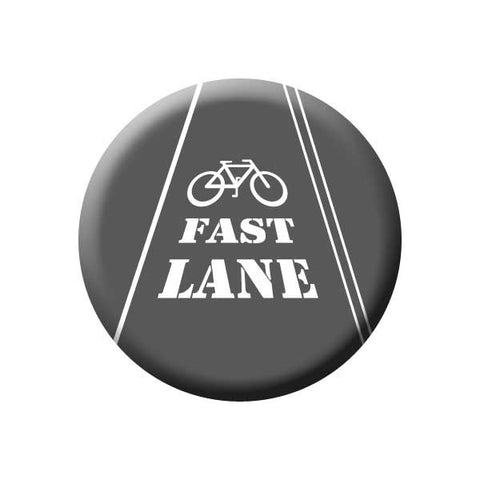 Fast Lane, Bike Lane, Black & White, Bicycle Buttons Collection from People Power Press