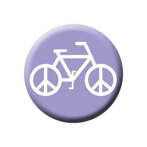 Peace On Wheels, Peace Sign, Bicycle, Purple, Bicycle Buttons Collection from People Power Press