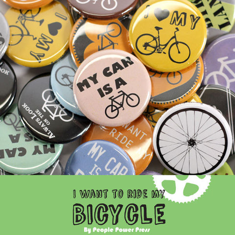 Bicycle Buttons Collection from People Power Press