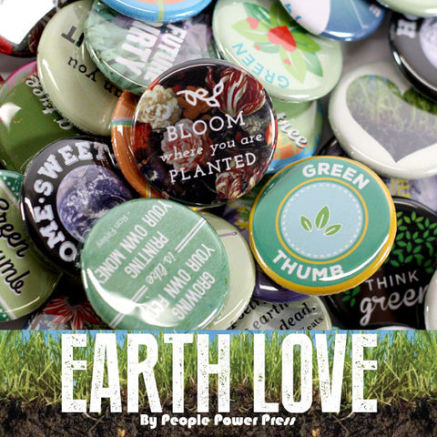 Earth Environment Buttons Collection from People Power Press