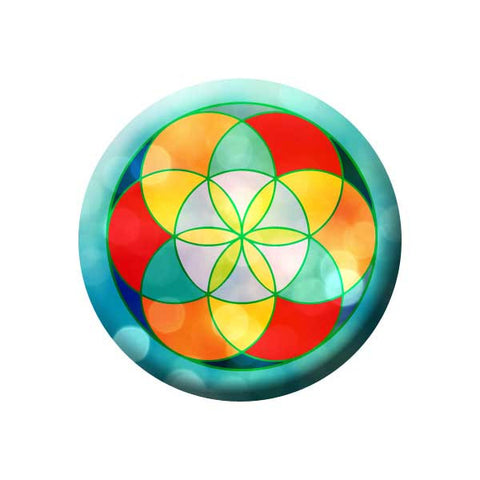 Geometry, Multicolour, Sacred Geometry, Earth Environment Buttons Collection from People Power Press