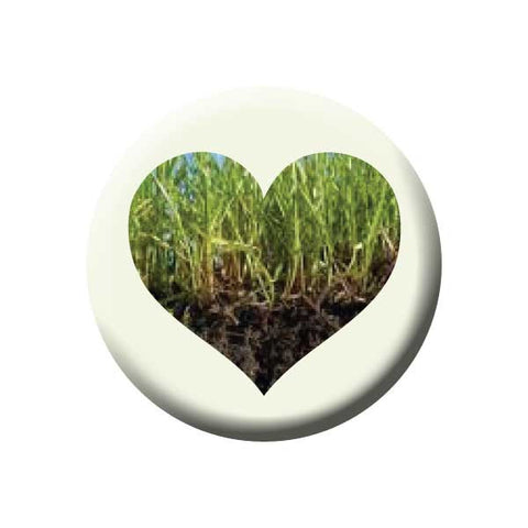 Grass Heart, Earth Environment Buttons Collection from People Power Press