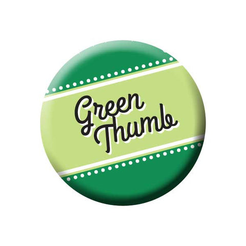 Green Thumb, Green, Earth Environment Buttons Collection from People Power Press