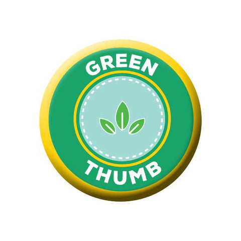 Green Thumb, Green & Yellow, Earth Environment Buttons Collection from People Power Press