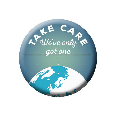 Take Care We've Only Got One, Earth, Earth Environment Buttons Collection from People Power Press