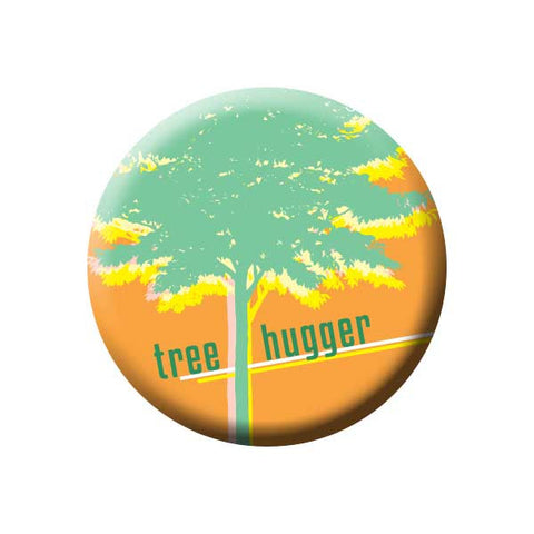 Tree Hugger, Orange, Earth Environment Buttons Collection from People Power Press