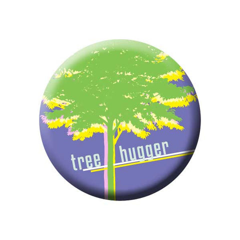 Tree Hugger, Purple, Earth Environment Buttons Collection from People Power Press