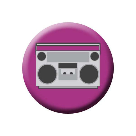 Boom Box, Purple, Retro, Music Record Store Buttons Collection from People Power Press