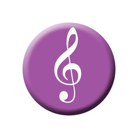 Treble Clef, Purple, Music Record Store Buttons Collection from People Power Press