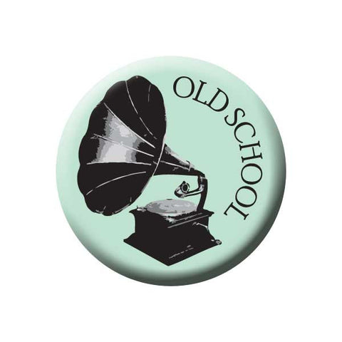 Old School, Gramophone, Mint, Music Record Store Buttons Collection from People Power Press