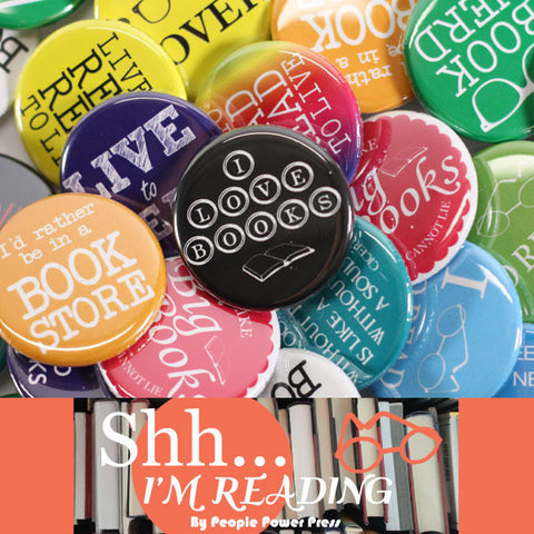 Reading Book Buttons Collection from People Power Press