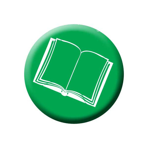 Book, Novel, Green, Reading Book Buttons Collection from People Power Press
