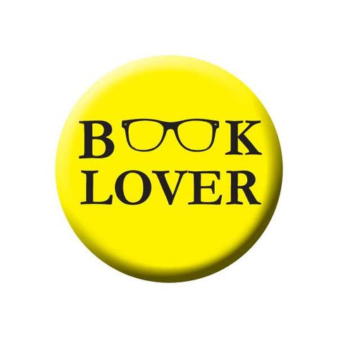 Book Lover, Reading Glasses, Yellow, Reading Book Buttons Collection from People Power Press