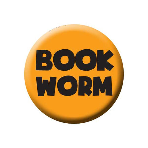 Book Worm, Orange, Reading Book Buttons Collection from People Power Press