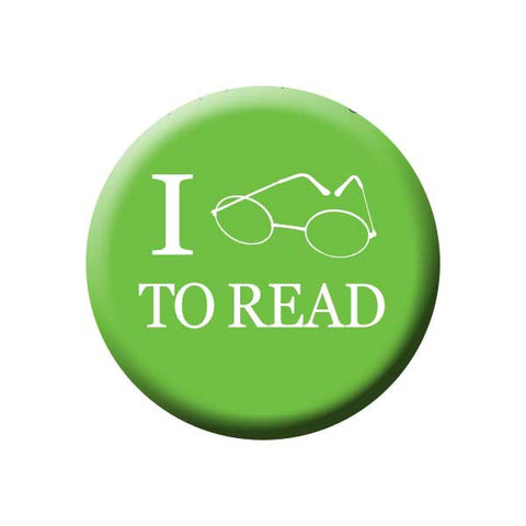 I Love To Read, Glasses, Green, Reading Book Buttons Collection from People Power Press